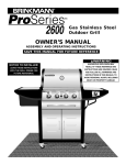 Brinkmann 2600 Series Gas Grill User Manual