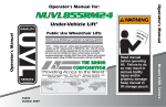 Braun NUVL855RM24 Wheelchair User Manual