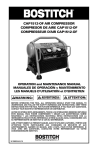 Bostitch CAP1512-OF Air Compressor User Manual