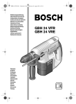 Bosch Power Tools GBH 24 VFR Drill User Manual