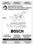 Bosch Power Tools 4410L Saw User Manual