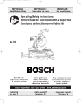 Bosch Power Tools 4212L Saw User Manual