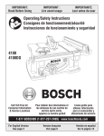 Bosch Power Tools 4100DG Saw User Manual