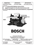 Bosch Power Tools 4000 Saw User Manual