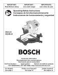 Bosch Power Tools 3924B-24 Cordless Saw User Manual
