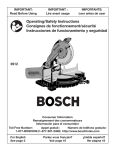 Bosch Power Tools 3912 Saw User Manual