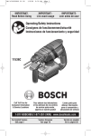 Bosch Power Tools 11536C Power Hammer User Manual