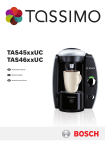 Bosch Appliances T45 Coffeemaker User Manual
