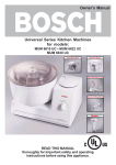 Bosch Appliances MUM 6630 UC Blender User Manual