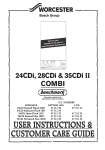 Bosch Appliances 24CDI Heating System User Manual