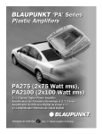 Blaupunkt PA2100 Car Amplifier User Manual