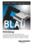 Blaupunkt MPA160us Car Amplifier User Manual