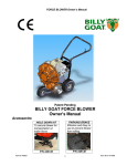 Billy Goat P / N 440120 Blower User Manual