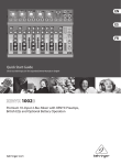 Behringer 1002B Music Mixer User Manual