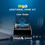 Audiovox XAPH1 Satellite Radio User Manual