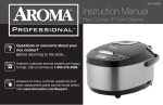 Aroma ARC-620SB Rice Cooker User Manual