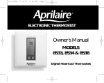 Aprilaire 8533 Thermostat User Manual