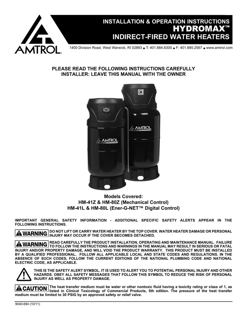 Amtrol Wiring Diagram Blog About Diagrams Bell Gossett Hm 41z Water Heater User Manual Lennox