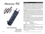 American DJ Ruby Beam DJ Equipment User Manual