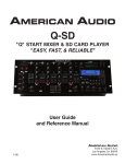American Audio Q-SD Music Mixer User Manual