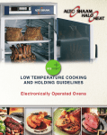 Alto-Shaam Electronically Operated Ovens Oven User Manual