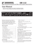 Acesonic KM-112 Music Mixer User Manual