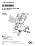 Craftsman 315.212040 Operator`s manual