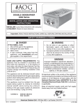 AOG 3282 Series Operating instructions