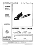 Craftsman 358.356280 Important Operating instructions