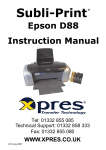 Epson Stylus D88 Instruction manual