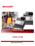 Sharp UP-810F Product specifications