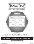 Simmons SDMP1 Owner`s manual