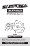 MasterForce 241-0440 Operator`s manual