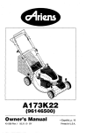 Ariens A173K22 (96146500) Product specifications