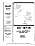 Craftsman 113.197210 Operator`s manual