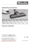 Miele S 6210 Operating instructions