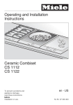 Miele CS 1012-1 Operating instructions