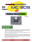 Roland MC-4 Owner`s manual