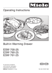 Miele ESW 700-25 Operating instructions