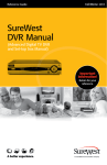 SureWest DVR Manual - SureWest Communications