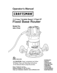 Craftsman 320.17542 Operating instructions