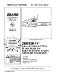 Craftsman 358.351191 Operator`s manual
