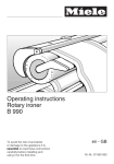 Miele B 990 Operating instructions