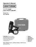 Craftsman 351.182140 Operator`s manual