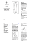 Mercedes-Benz 2008 E550 Operator`s manual