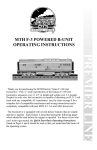 MTHTrains F-3 POWERED B-UNIT Operating instructions