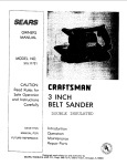 Craftsman 315.11721 Owner`s manual