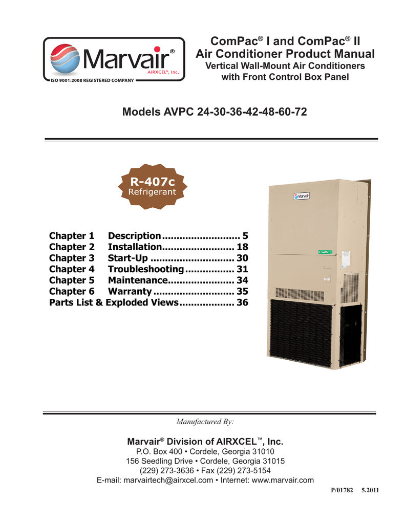 Marvair Air Conditioners Wiring Diagrams Diagram Schematics Heil Handler Avp 24 Product Manual Conditioner