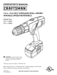 Craftsman 315.114852 Operator`s manual