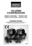 150 LITRE COMPRESSORS - Tooled